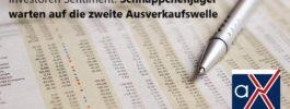Investoren Sentiment: Schnäppchenjäger warten auf die zweite Ausverkaufswelle