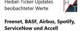 Heibel-Ticker Updates beobachteter Werte: Freenet, BASF, Airbus, Spotify, ServiceNow und Accell