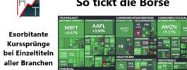 So tickt die Börse: Exorbitante Kurssprünge bei Einzeltiteln aller Branchen