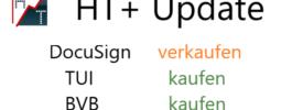 Heibel-Ticker PLUS Update: DocuSign verkaufen, TUI & BVB kaufen