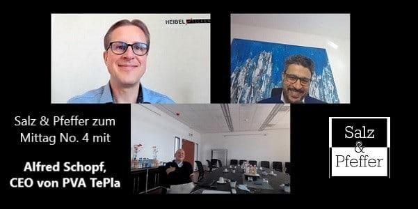 YouTube Video Salz und Pfeffer zum Mittag No. 4 mit Alfred Schopf, CEO von PVA TePla
